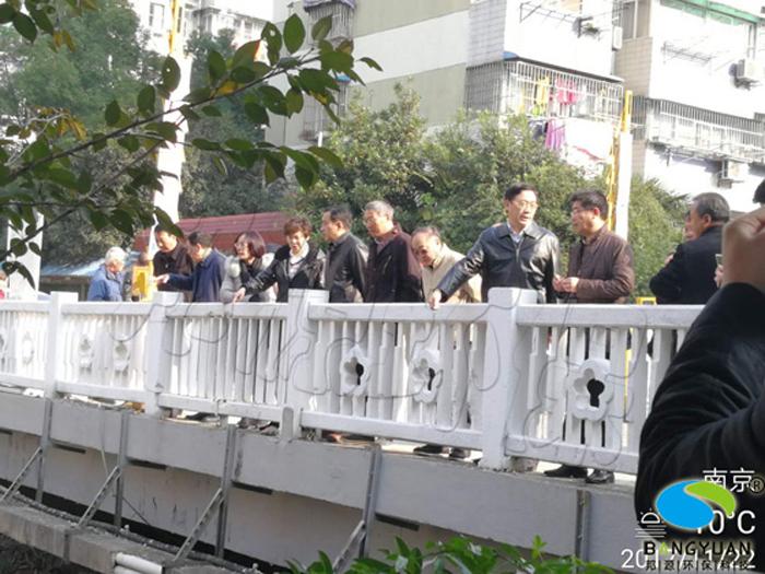 南京市市长一行多位领导检查我系中保河黑臭河道生物治理项目